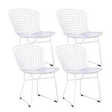 Zestaw 4x krzesło NET SOFT - biały