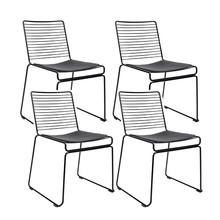 Zestaw 4x krzesło ROD SOFT - czarny