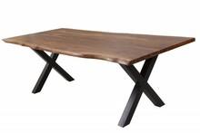 Stół AMAZONAS X 180 cm naturalny - sheesham, metal