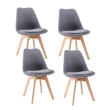 Zestaw 4x krzesło DIOR buk - ciemny szary