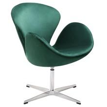 Fotel SWAN VELVET PREMIUM - ciemny zielony
