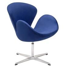 Fotel SWAN VELVET PREMIUM - ciemny niebieski