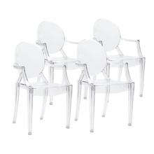 Pakiet 4x Krzesło LOUIS transparentne - poliwęglan