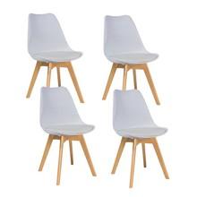 Zestaw 4x krzesło KRIS buk - biały