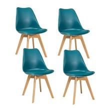 Zestaw 4x krzesło KRIS buk - morski