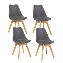 Zestaw 4x krzesło KRIS buk - szary