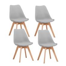Zestaw 4x krzesło KRIS dąb - jasny szary