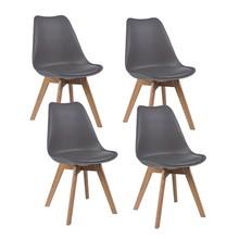 Zestaw 4x krzesło KRIS dąb - szary