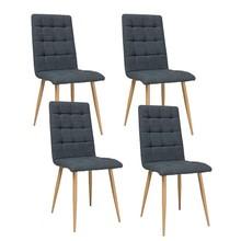 Zestaw 4x krzesło OTTO tkanina - dąb/grafitowy