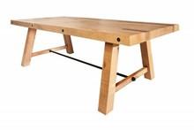 Stół FINCA 200 cm sosna - naturalny, lite drewno, metal
