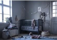 Łóżeczko dziecięce z opuszczanym bokiem LUX 120x60 - ciemny szary
