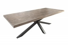 Stół GALAXIE 240 cm Sosna szara - drewno naturalne, metal