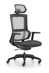Fotel biurowy ELEGANCE - czarny