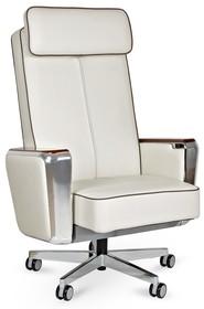 Fotel REGENT skóra naturalna - biały