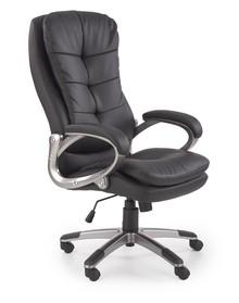 Fotel gabinetowy PRESTON - czarny