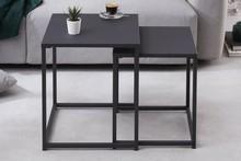 Zestaw stolików DURA czarne - metal