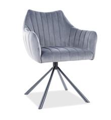 Krzesło AGAVA Velvet - szary Bluvel 14