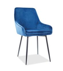 Krzesło ALBI Velvet - granatowy