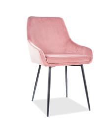 Krzesło ALBI Velvet - antyczny róż