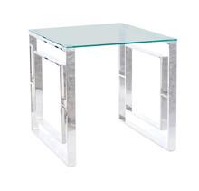 Ława ALLURE B 55x55 - transparentny/srebrny