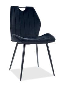 Krzesło ARCO Velvet - czarny Bluvel 19