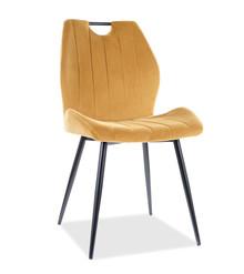 Krzesło ARCO Velvet - curry Bluvel 68