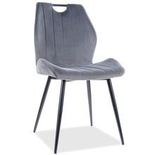 Krzesło ARCO Velvet - szary Bluvel 14