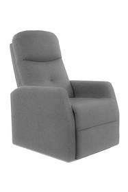 Fotel rozkładany ARES Velvet - szary Bluvel 14