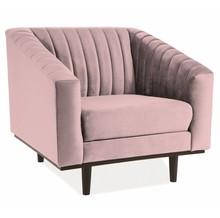 Fotel ASPREY 1 Velvet - róż antyczny Bluvel 52