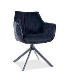 Krzesło obrotowe AZALIA Velvet - czarny Bluvel 19