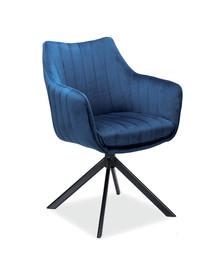 Krzesło obrotowe AZALIA Velvet - granatowy Bluvel 86