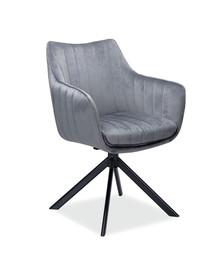 Krzesło obrotowe AZALIA Velvet - szary Bluvel 14