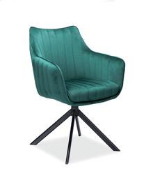 Krzesło obrotowe AZALIA Velvet - zielony Bluvel 78
