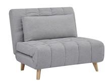 Fotel rozkładany BILLY - szary
