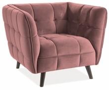 Fotel CASTELLO 1 VELVET - róż antyczny Bluvel 52