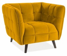 Fotel CASTELLO 1 Velvet - żółty/curry Bluvel 68