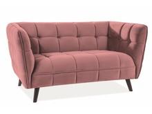 Sofa CASTELLO 2 VELVET - róż antyczny Bluvel 52