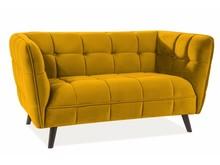 Sofa CASTELLO 2 Velvet - żółty/curry Bluvel 68