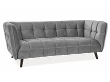 Sofa CASTELLO 3 Velvet - szary Bluvel 14