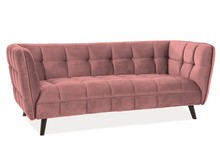 Sofa CASTELLO 3 VELVET - róż antyczny Bluvel 52