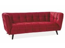 Sofa CASTELLO 3 Velvet - bordowy Bluvel 59