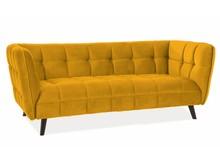 Sofa CASTELLO 3 VELVET - żółty/curry Bluvel 68
