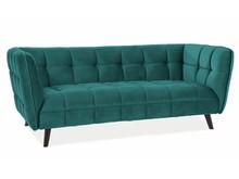 Sofa CASTELLO 3 VELVET - turkusowy Bluvel 85
