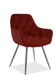 Krzesło CHERRY Matt Velvet - bordo