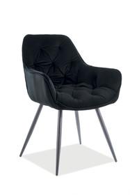 Krzesło CHERRY Matt Velvet - czarny