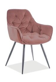 Krzesło CHERRY Matt Velvet - antyczny róż