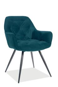 Krzesło CHERRY Matt Velvet - turkusowy