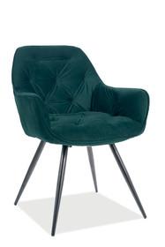 Krzesło CHERRY Matt Velvet - zielony