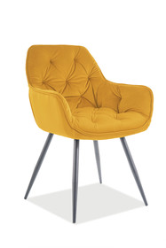 Krzesło CHERRY Matt Velvet - żółty