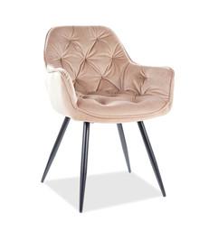 Krzesło CHERRY Velvet - beż Bluvel 28